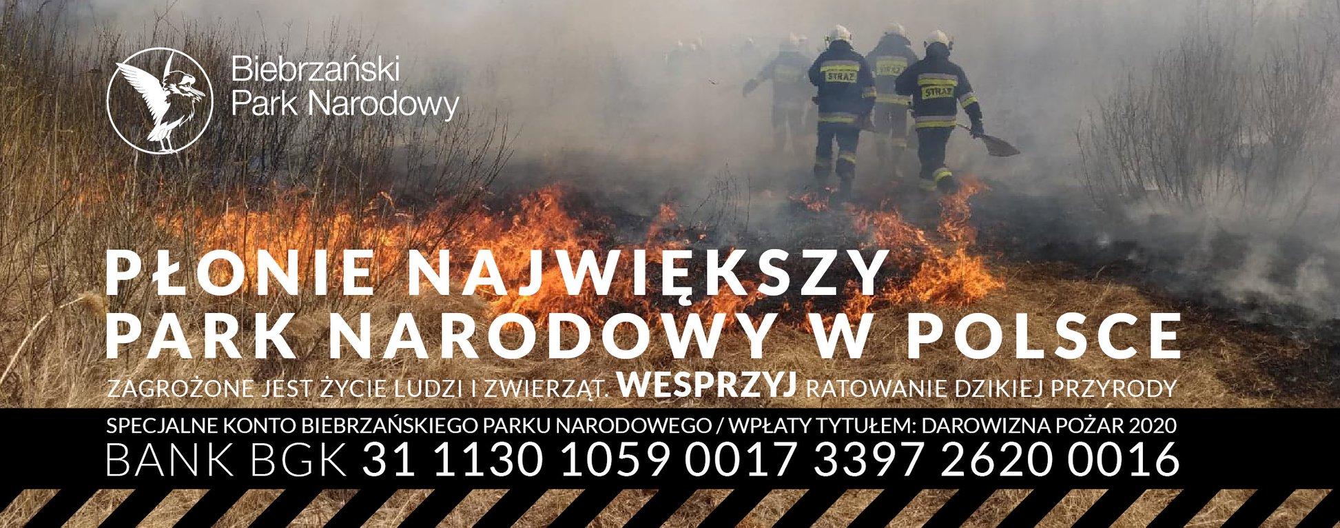 Biebrzański Park Narodowy wciąż płonie